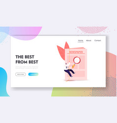 job search landing page template tiny male vector image