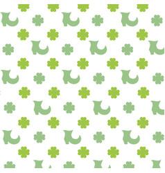 Leprechaun shoe clover background wallpaper vector
