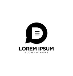 Letter d chat logo design communication logo vector
