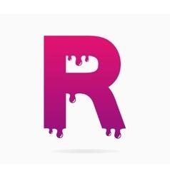 Letter R logo or symbol icon vector