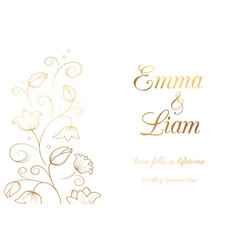 lily wedding invitation vector image