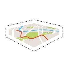 Map gps service icon vector