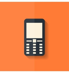 Mobile phone icon Flat design vector