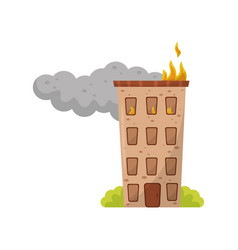 Multi storey house is on fire vector