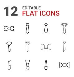 necktie icons vector image