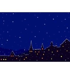 Night winter city vector image vector image