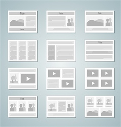 Page layout template set vector image