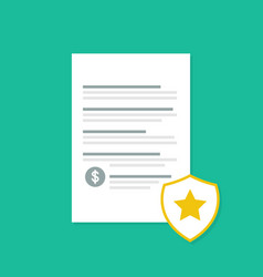 Penalty document with shadow flat style vector