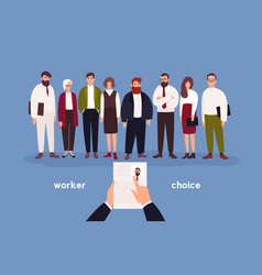 People dressed in office clothing standing in row vector
