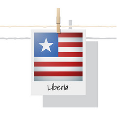 photo of liberia flag vector image