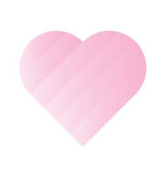 pink heart of gradient stripes 3d effect symbol vector image