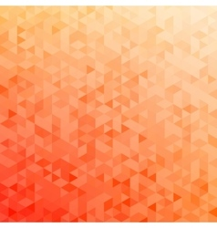 Polygonal abstract background - red yellow vector