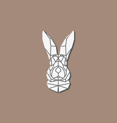Polygonal abstract rabbit head vector