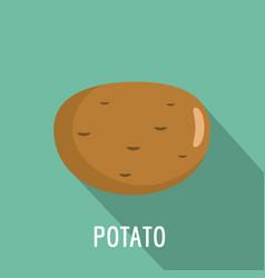 potato icon flat style vector image