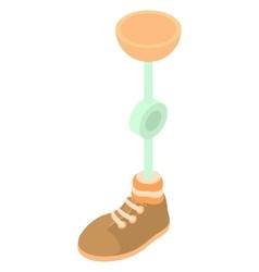 Prosthetic leg icon cartoon style vector