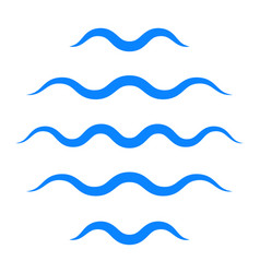 sea wave logo icon sign water symbol vector image