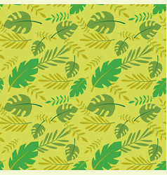 seamless pattern palm and tropical leaves vector image