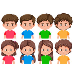 set of different male and female character vector image