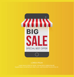 smartphone with big sale offer vector image