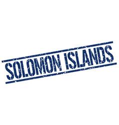 Solomon islands blue square stamp vector
