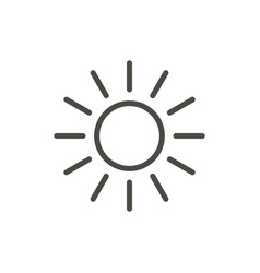 sun icon line summer symbol vector image