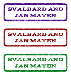 Svalbard and jan mayen watermark stamp vector