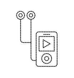 technology mp4 music player headphones vector image