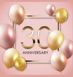 Template 30 years anniversary background vector