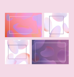 trendy vibrant gradient background template vector image