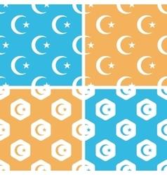 Turkey symbol pattern set colored vector image
