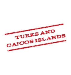 Turks And Caicos Islands Watermark Stamp vector