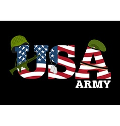 United States Army Military equipment of America vector image