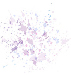 watercolor paint splashes in pastel colors for vector image