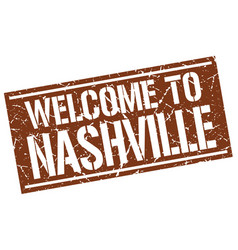 Welcome to nashville stamp vector