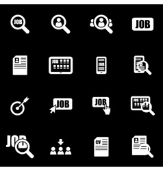 white job search icon set vector image