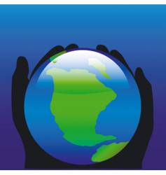 World in our hands vector