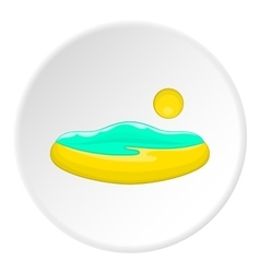 Beach and sun icon cartoon style vector image vector image