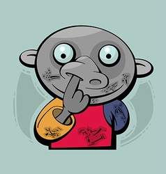 Picking Nose vector image