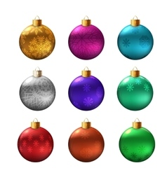 Set of christmas bauble vector image