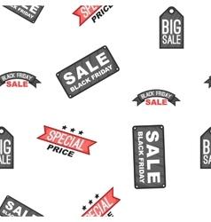 Black friday badges pattern cartoon style vector image