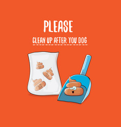 clean up after your dog with a vector image