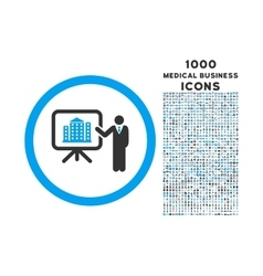 Architecture Presentation Rounded Icon with 1000 vector image