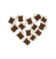 coffee mug heart i love caffeine i like to drink vector image
