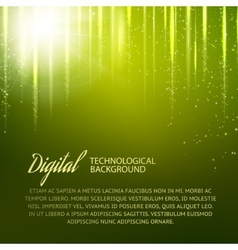 Green background with light effect vector image
