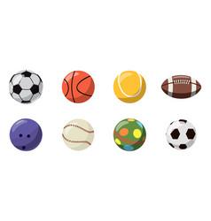 balls icon set cartoon style vector image