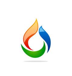 bio gas abstract logo vector image