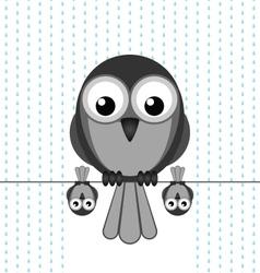 BIRD SHELTER RAIN vector image vector image