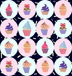 Cute Hand drawn colorful seamless pattern with cup vector image
