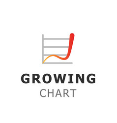 financial and investment logo design growing vector image