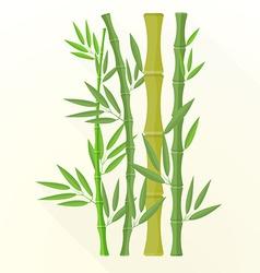 flat bamboo plants icon vector image
